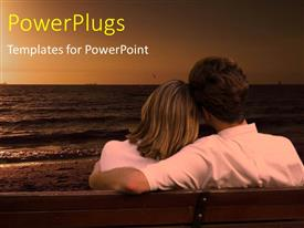 PowerPlugs: PowerPoint template with a and a woman sitting together staring at the sea