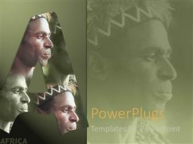 PowerPlugs: PowerPoint template with wonderful face of a majestic African continent set in green