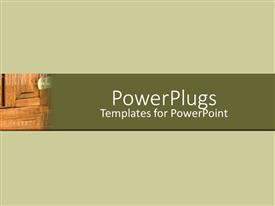 PowerPlugs: PowerPoint template with a wood grain with greenish background