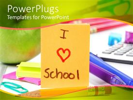 PowerPlugs: PowerPoint template with the word on the card with keyboard in the background