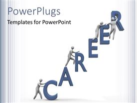 PowerPlugs: PowerPoint template with the word career with a number of people and white background