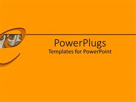 PowerPlugs: PowerPoint template with the word e with yellowish background
