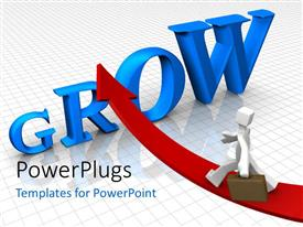 PowerPlugs: PowerPoint template with a word grow with a professional