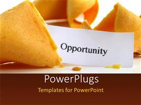 PowerPlugs: PowerPoint template with the word opportunity with a colorful background