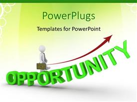 PowerPlugs: PowerPoint template with the word opportunity with a person