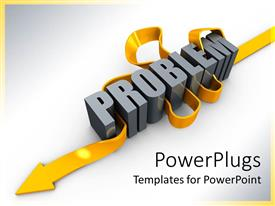 PowerPlugs: PowerPoint template with the WORD problem pointing in downward direction