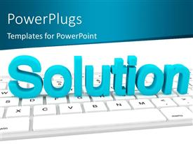 PowerPlugs: PowerPoint template with the word solution with a keyboard and place for text