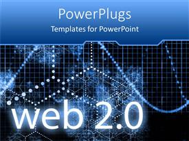 PowerPlugs: PowerPoint template with the word web 2.0 with various beads in the background