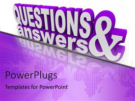 questions answers powerpoint templates | crystalgraphics, Modern powerpoint