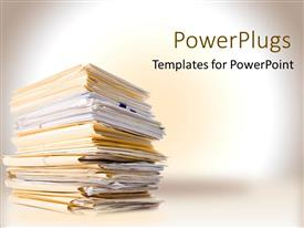 PowerPlugs: PowerPoint template with work to do business files paper white background