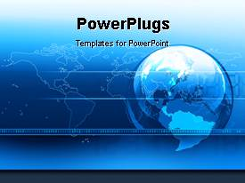 PowerPlugs: PowerPoint template with a world map with an earth globe and binary codes