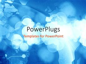 PowerPlugs: PowerPoint template with a world map silhouette with lots of binary numbers