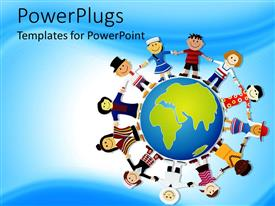 PowerPlugs: PowerPoint template with world peace depiction, different races of the world