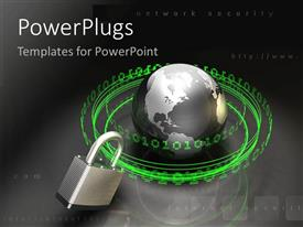 PowerPlugs: PowerPoint template with the world wide web internet security technology issues controversy identity personal security