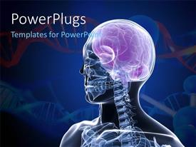 PowerPlugs: PowerPoint template with x-ray depiction of a human head with brain