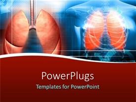 PowerPlugs: PowerPoint template with x-ray of human body showing ribs and lungs