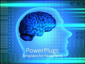 PowerPlugs: PowerPoint template with xray of human head showing human brain depicting intelligence