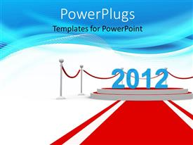 PowerPlugs: PowerPoint template with the year 2012 with bluish background and place for text