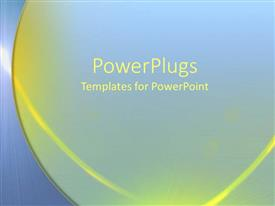 PowerPlugs: PowerPoint template with yellow and blue abstract designs lines stripes modern simple