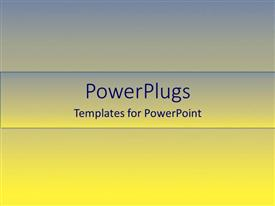 PowerPlugs: PowerPoint template with a yellow and bluish background with place for text