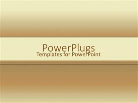 PowerPlugs: PowerPoint template with yellow to brown ombre gradient background