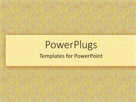 PowerPlugs: PowerPoint template with yellow confetti background with yellow box
