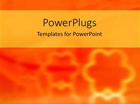 PowerPoint template displaying yellow flower cookie cutter outlines on orange background