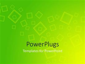 PowerPlugs: PowerPoint template with yellow and green colored square art with gradient