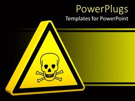 PowerPlugs: PowerPoint template with yellow hazard sign with skeleton