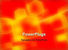 PowerPlugs: PowerPoint template with yellow and orange cubes rotating and moving over orange