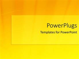 PowerPoint template displaying yellow and orange shades in background