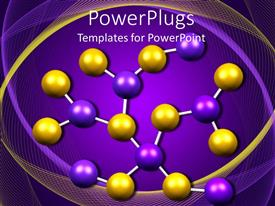 PowerPlugs: PowerPoint template with yellow and purple molecule model on purple background