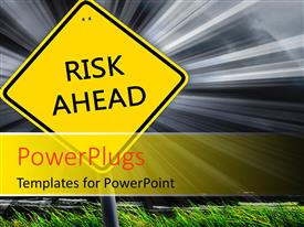 PowerPlugs: PowerPoint template with a sign post with text on it and a shinning light