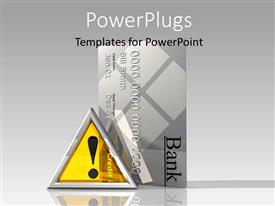 PowerPlugs: PowerPoint template with a yellow symbol with a large credit card beside it