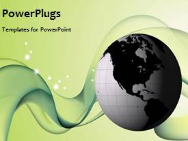 PowerPlugs: PowerPoint template with a yellowish background with a globe
