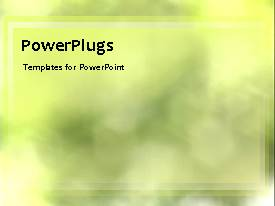 PowerPlugs: PowerPoint template with a yellowish background with greenery in the background