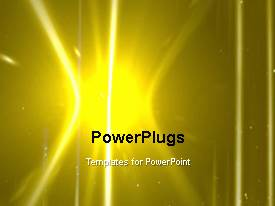 PowerPlugs: PowerPoint template with a yellowish background with a lot of movement