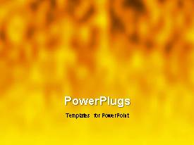 PowerPlugs: PowerPoint template with a yellowish background with a number of words