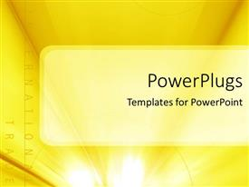 PowerPoint template displaying a yellowish background with place for text