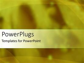 PowerPlugs: PowerPoint template with a yellowish background with place for text