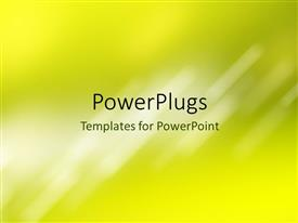 PowerPlugs: PowerPoint template with a yellowish background with a place for text