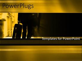 PowerPlugs: PowerPoint template with a yellowish background with a professional