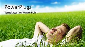 PowerPlugs: PowerPoint template with a person enjoying in the greenery