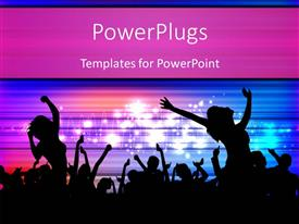 PowerPlugs: PowerPoint template with youth enjoying and dancing at musical event