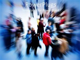 PowerPlugs: PowerPoint template with zoom effect of group of people in public place