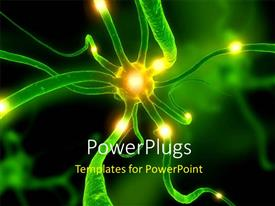 PowerPlugs: PowerPoint template with a zoom in view of a neuron cell