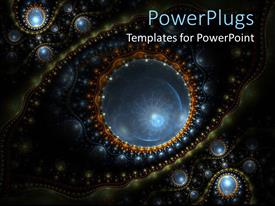 PowerPlugs: PowerPoint template with zoomed in several micro organisms